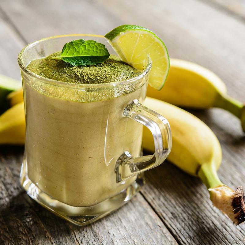 Krémes banános matcha turmix