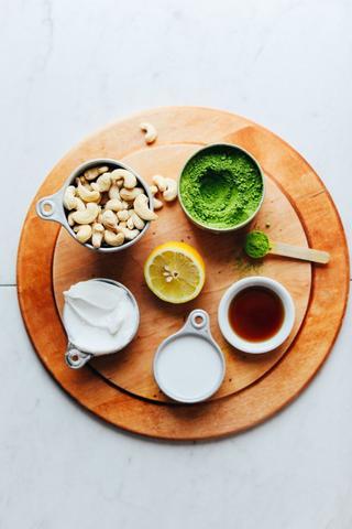 matcha teás sajttorta egészséges cukormentes alapanyagok