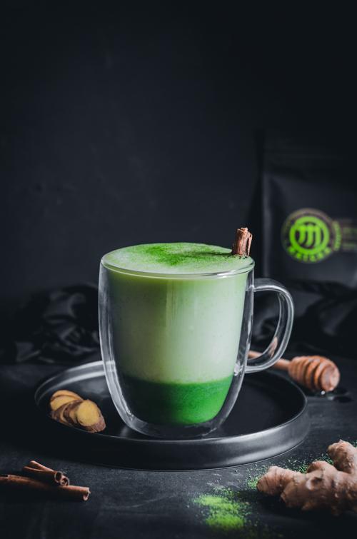 fahéjas gyömbéres immunerősítő matcha latte