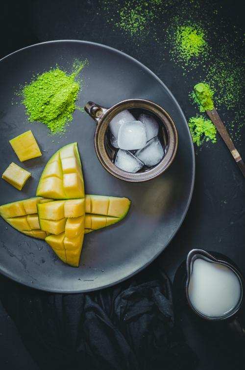M matcha jeges matcha mangó smoothie hozzávalók