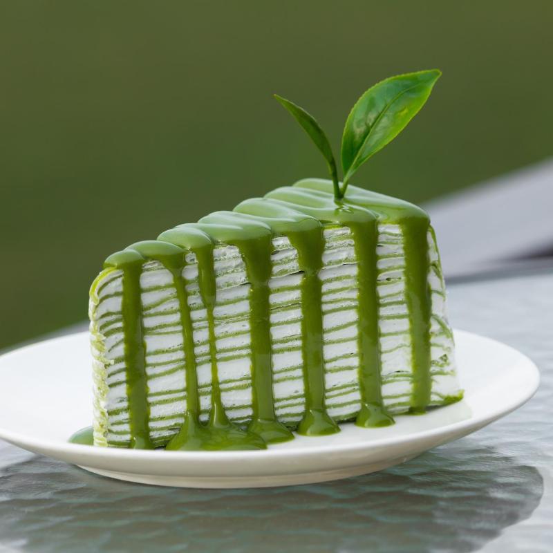 Matcha crepe torta - a francia és japán csoda-süti